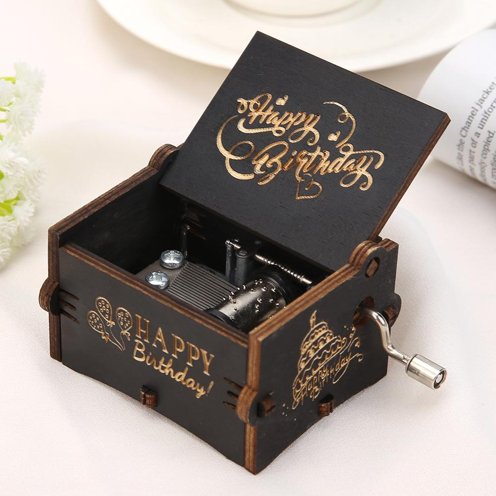 Gying Carved Wooden Hand Crank Five Nights At FreddySmusic Box Red Carved Mechanism Gift For Christmas//Birthday