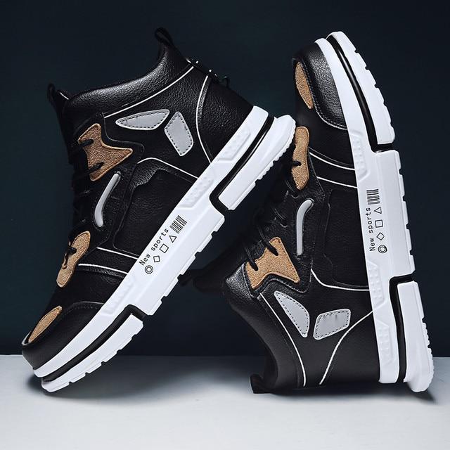 Zapatos informales vulcanizados para hombre, Zapatillas altas, alta calidad, para otoño e invierno, Primavera, novedad 3