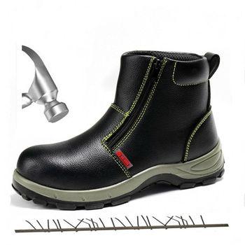 Wysoka wodoodporność antypoślizgowe stalowe Toe ciepłe buty robocze bhp mężczyźni Outdoor niezniszczalne odporne na przebicie buty taktyczne odporne na przebicie tanie i dobre opinie QBHYZY Pracy i bezpieczeństwa Połowy łydki Stałe Dla dorosłych Cotton Fabric Okrągły nosek RUBBER Wiosna jesień