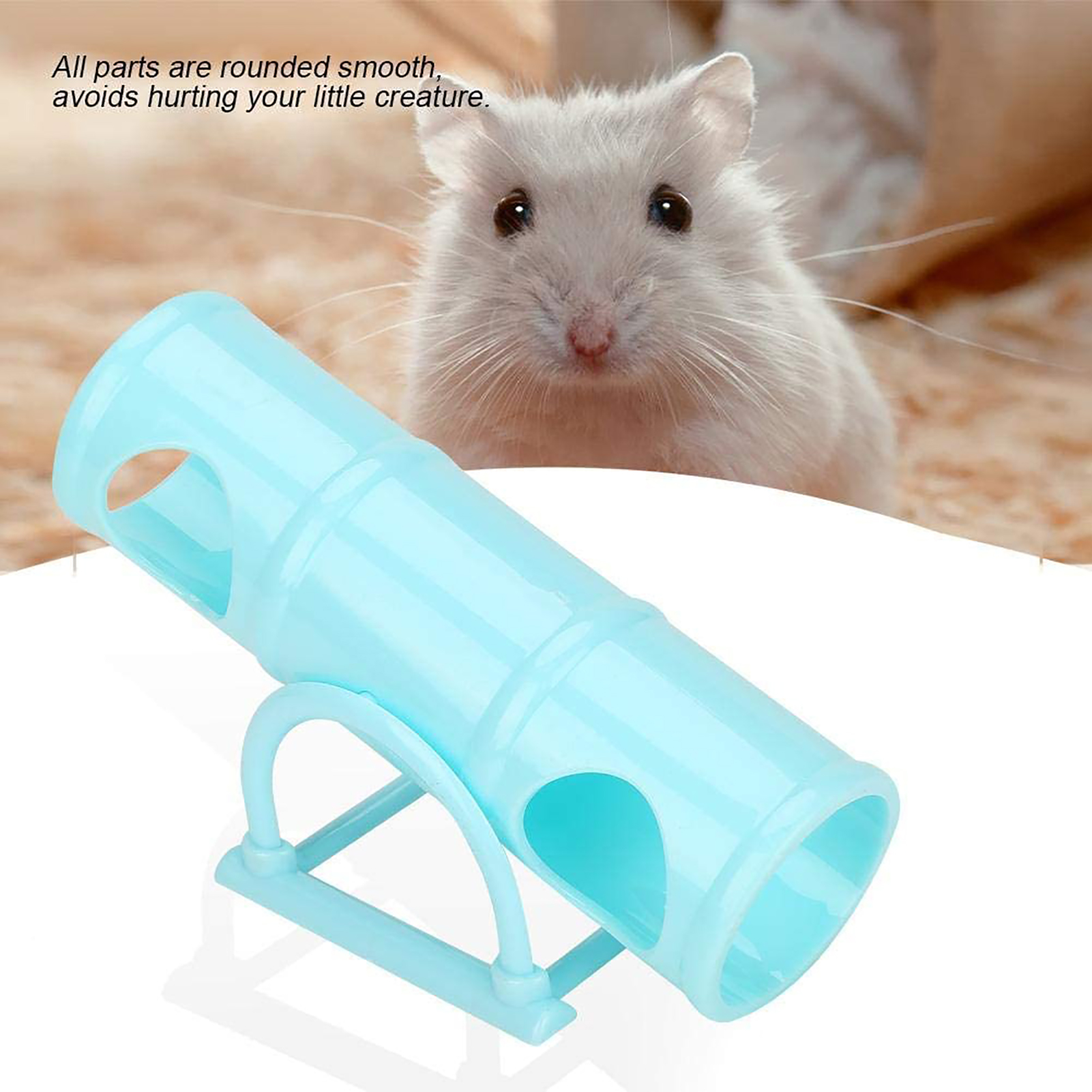 Hamster Funny Seesaw Toy Anti-aging Waterproof Pet Sports Channel Toy Small Pet Intelligence Training Pipe Toy For Guinea Pig