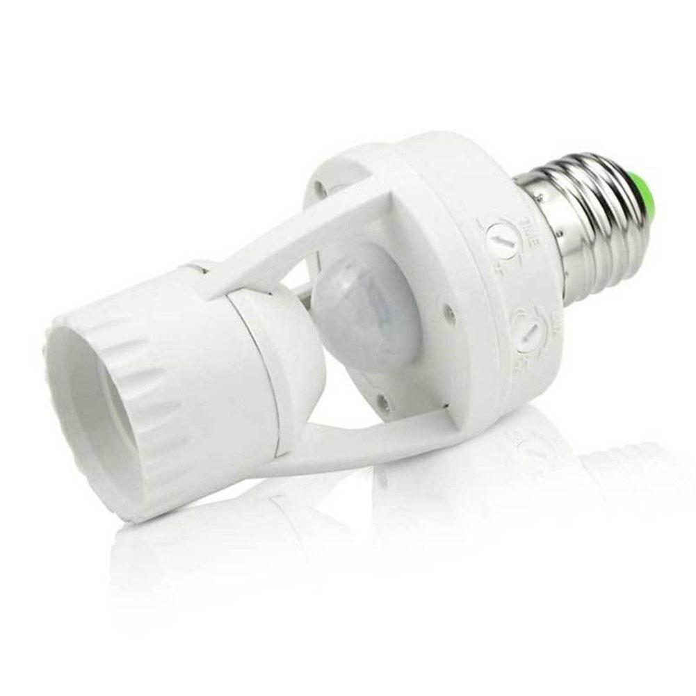E27 Smart Motion Sensor Lighting Switch AC 110V 220V 360 Degrees PIR Induction Motion Sensor IR Infrared Human E27 Socket Switch