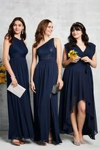 цена на Plus Size High Low Bridesmaid Dresses Chiffon Dress For Wedding Party One Shoulder Women Formal Gowns