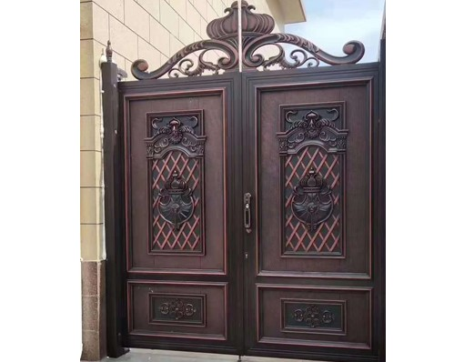China Excellent Courtyard Gate Aluminum Gate Indian Main Gate Sliding Open