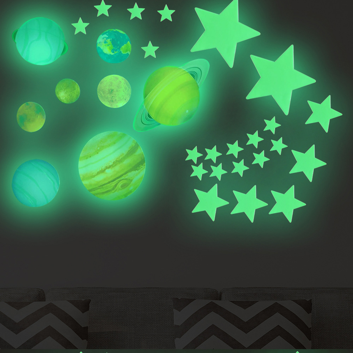 100pcs Star Sticker Glow In Dark Toys Luminous Star Stickers Bedroom Sofa Fluorescent Painting Toy Stickers For Kids Room