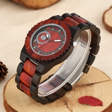 Circle Geometric Dial Wooden Watch Men's Watches Natural Ful