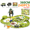 Hot Railway Magic Track Toy dinosaurs track Flexible Racing car with dinosaur mat Model cars Children's Toys For Christmas gift