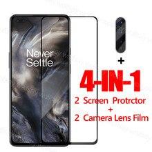 Vidro com cola total para OnePlus Nord Protetor de tela para OnePlus 8T 7T Nord Filme protetor de vidro temperado para OnePlus Nord