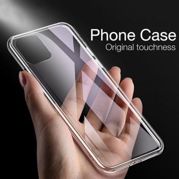 Odporny na wstrząsy przezroczysty silikonowy futerał na telefon iPhone 11 Pro MAX X XS XR XS 6 6S 7 8 Plus SE 2020 przezroczysty pokrowiec ochronny zderzak tanie i dobre opinie KALCAS Aneks Skrzynki For Iphone 4 4S 5 5S 5SE 6 4 7 7 7 Plus bumper Apple iphone ów iphone xs IPHONE 6S IPHONE 4S IPhone 7