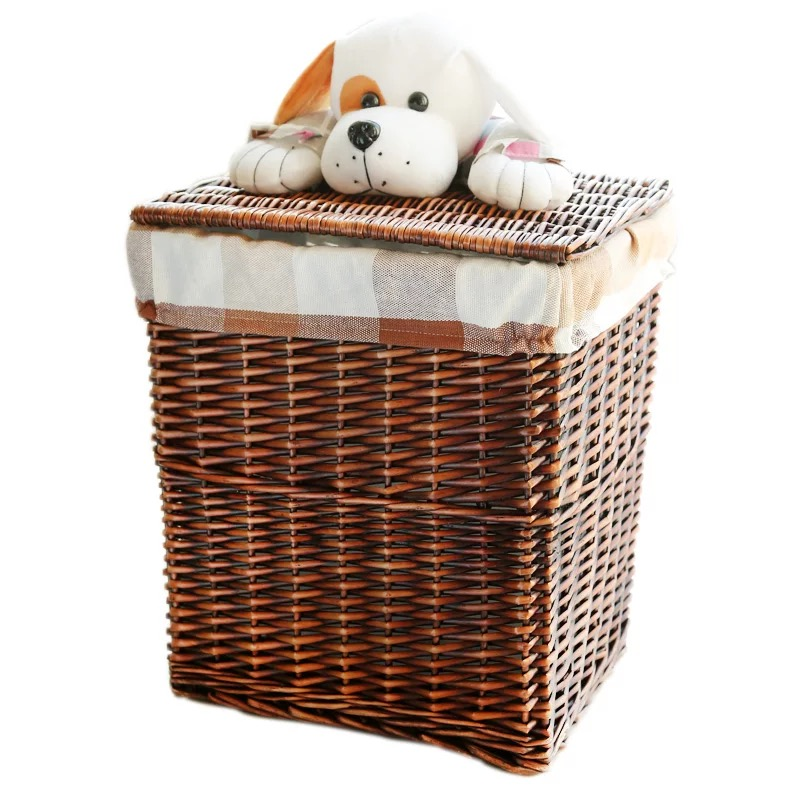 Large Small Dark Brown Dirty Clothes Wicker Laundry Basket With Cute Puppy Lid White Decorative Wicker Storage Neatening Baskets Laundry Basket Wicker Laundry Basketwicker Laundry Aliexpress