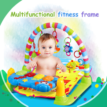 Multifunctional fitness frame Baby blanket piano Teethers Pendant with music light Remote control function 2 Optional