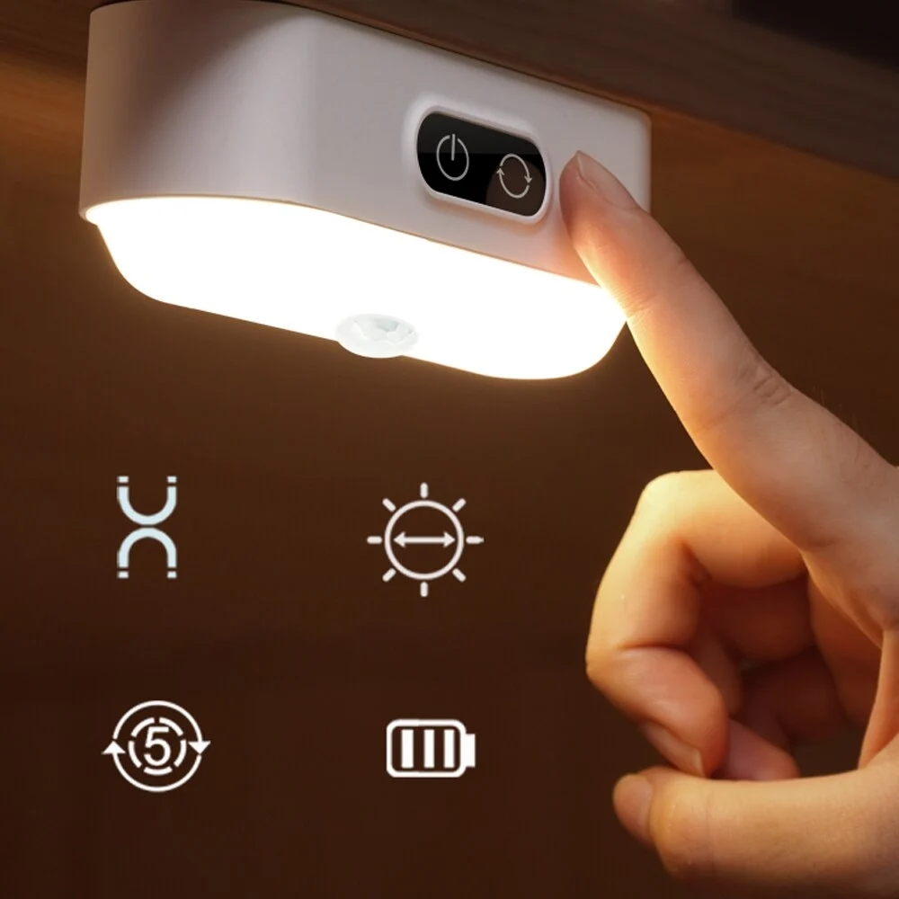 USB Eye Protection Cool Night Light Human Body Induction 1