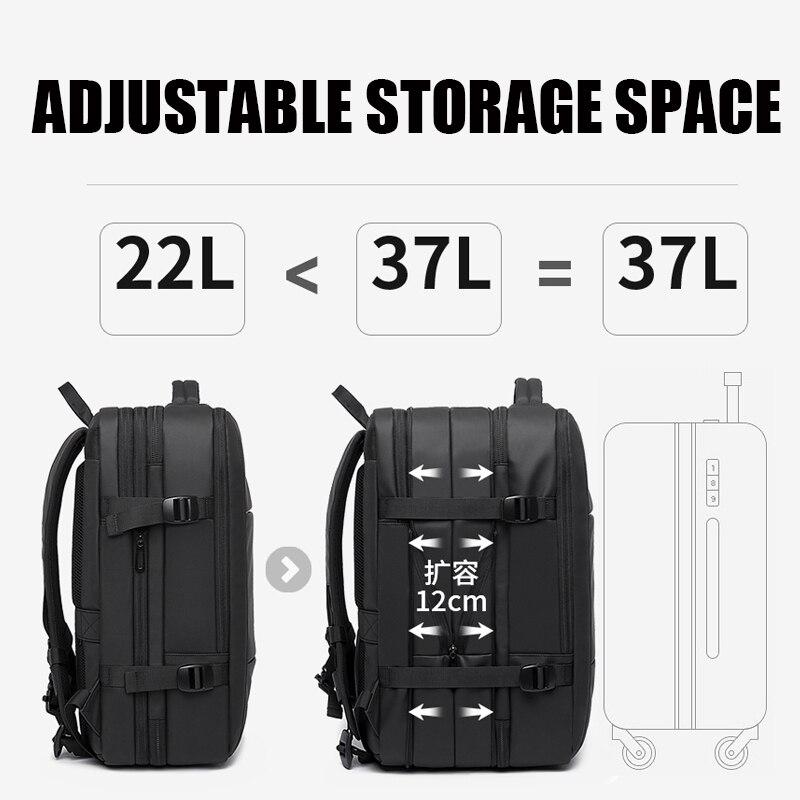 Bange mode homme sac à dos étanche 15.6 pouces ordinateur portable USB Recharge sac à dos multi-couche haute capacité voyage homme sac à dos - 3