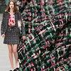 Veste dautomne en tissu Tweed rose, soie nacrée, costume robe, matériaux de couture, mètre, livraison gratuite