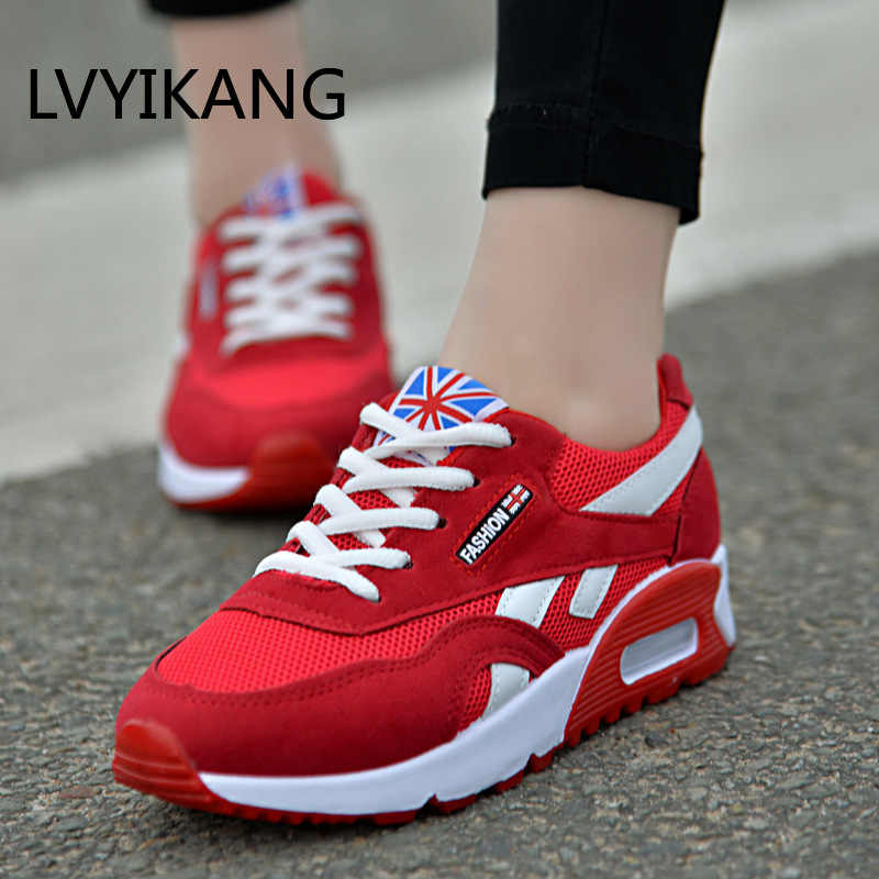 2019Fashion Trainers Sneakers Women Casual Shoes Air Mesh Grils Wedges Canvas Shoes Woman Tenis Feminino Zapatos Mujer No Logo