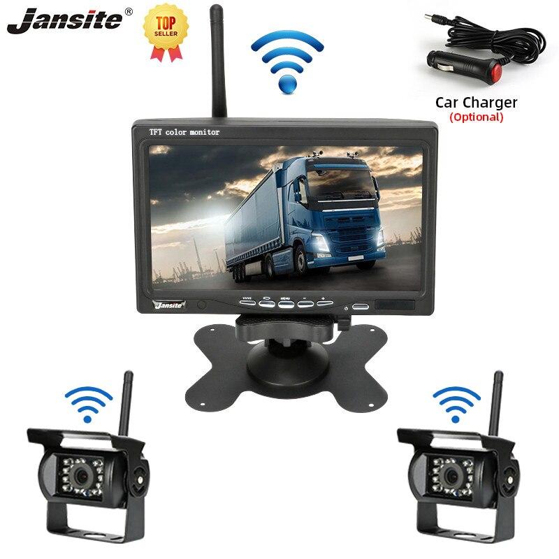 Jansite камера заднего вида 7 дюймов камера для грузовика Автомобильная Беспроводная задняя камера заднего вида комплект камеры заднего вида Б...