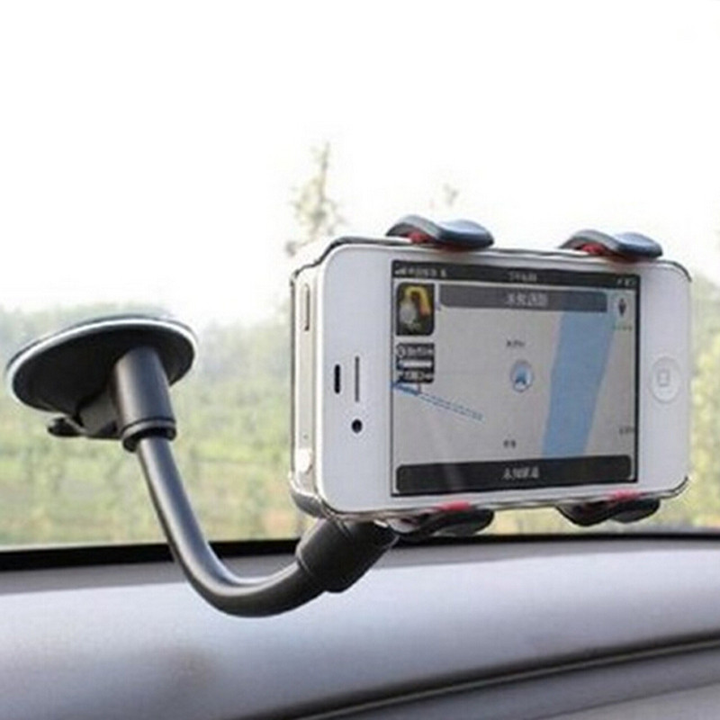 New Car Phone Holder Car Window Windshield Mount Holder For IPhone Samsung Smart Phones VIA34