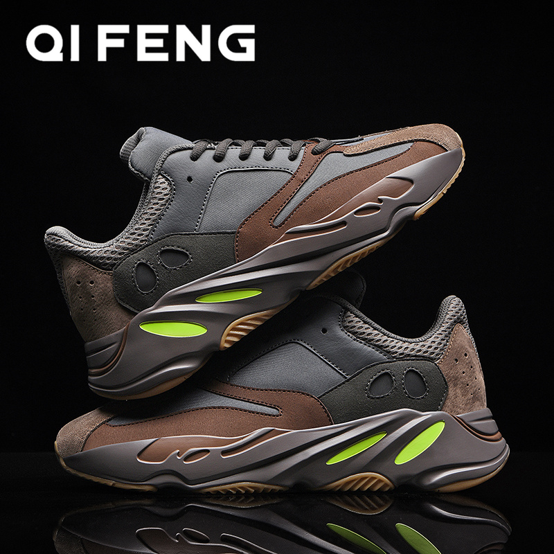 2020 New Fashion Air Cushion Running Shoes Men Black Leather Sport Shoes Trendy Jogging Men Sneakers Male Style Shoes White 700
