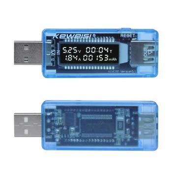 strong Import List strong Na USB prądu napięcie Tester pojemności Volt aktualny wykrywania napięcia ładowarka Tester pojemności miernik testowy mobilny wykrywacz zasilania Test baterii tanie i dobre opinie CN (pochodzenie) NONE 3 5V-9V (1 accuracy) 0-3 3A (accuracy 1 ) 0-99Hour 0-99999mAh Light blue 59*23*13 5mm Current Voltage Detector Tester