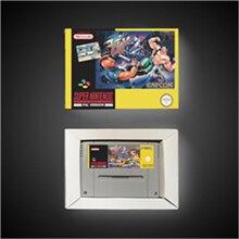 Luta final 2 cartão de jogo da ação da versão do eur com caixa varejo