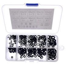 250 pçs/caixa nbr selo anel kit espessura 1 / 1.5mm nitrilo de borracha nbr o-ring junta anel de vedação o anéis de borracha conjunto de kit