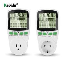 مقياس طاقة رقمي مزود بشاشة LCD ، مقياس طاقة ، Kwh ، قابس الاتحاد الأوروبي والولايات المتحدة