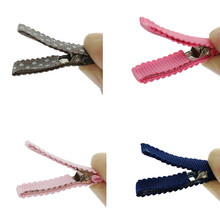 100pcs Don`t Hurt The Hair Alligator Clips 35mm Girls Hairpin Barrettes for Kids Women Jewelry Accessories