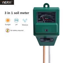 3 в 1 растительные цветы почвы рН-тестер измеритель влажности светильник гидропонный анализатор детектор для сада гигрометр