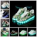 Светящиеся кроссовки со светодиодной подсветкой; Светящаяся обувь для девочек; Детская светящаяся обувь; Повседневная обувь на плоской под...