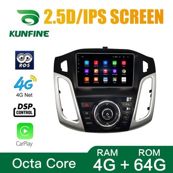 Car Radio For FORD Focus 2012-2018 Octa Core Android 10.0 Car DVD GPS Navigation Player Deckless Car Stereo Headunit image
