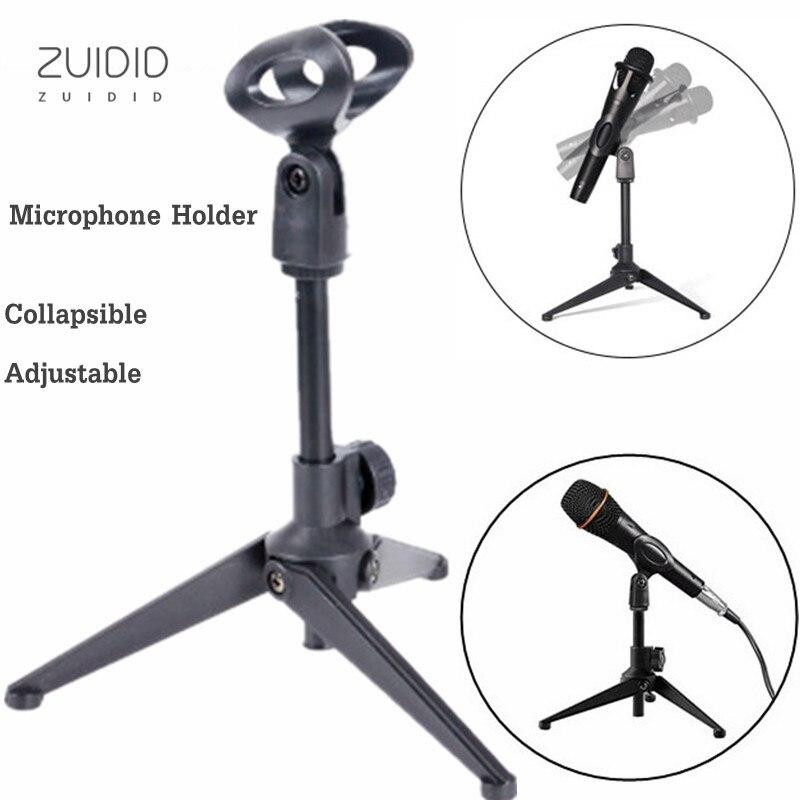 Trépied de bureau pour Microphone, support pliable, léger et Compact avec pince, 2 couleurs