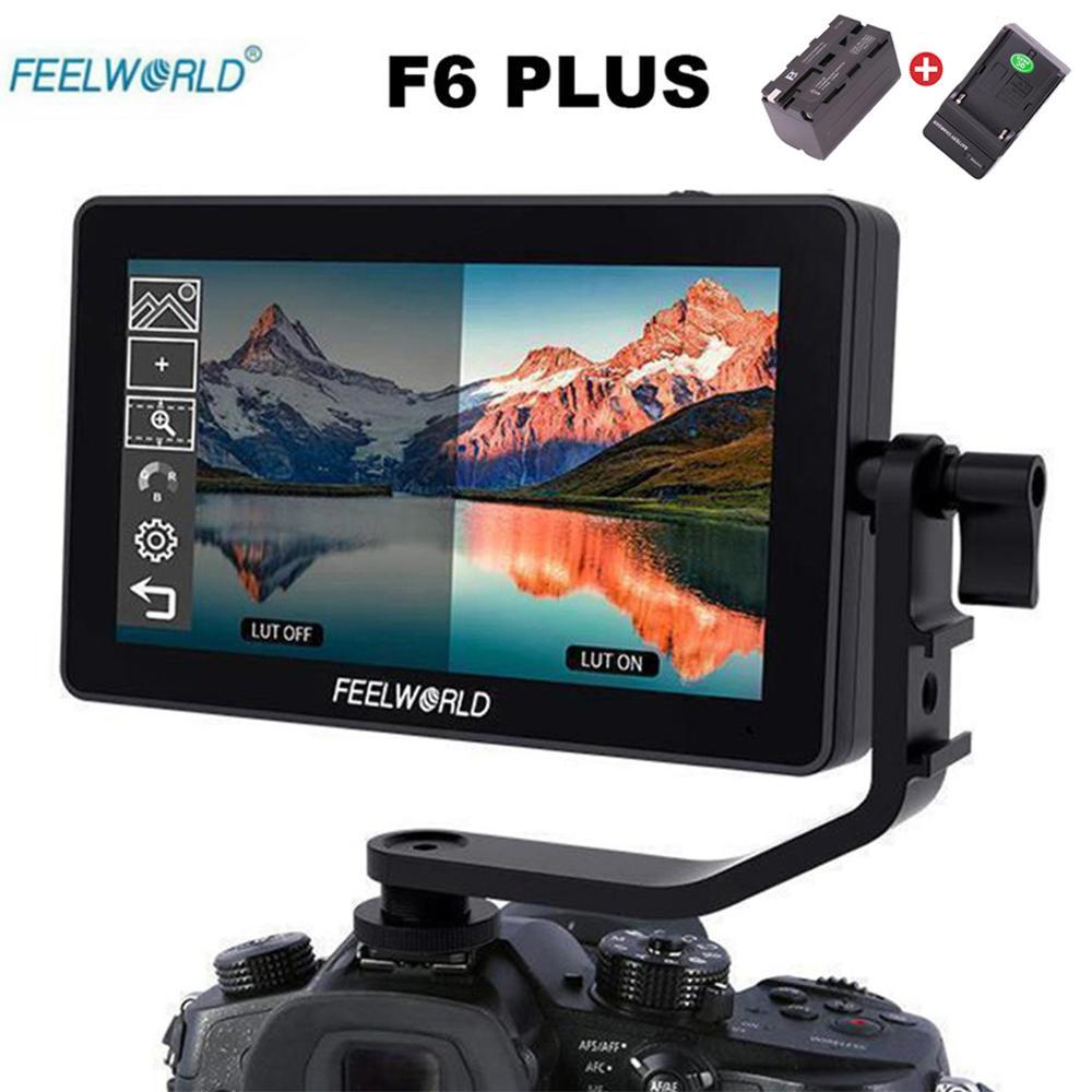 Feelworld F6 PLUS Monitor Liga de Alumínio Tela Sensível Ao Toque de 5.5 Polegada Diretor 4K Micro Único Display Monitor Da Câmera DSLR