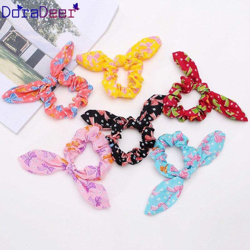 DoraDeer бантики-резинки для волос с узлом, женские резинки для волос, банданы для девочек, банданы в горошек, конский хвост, держатель