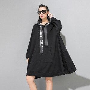 Image 3 - Max LuLu 2019 marca Coreana de moda de las señoras de diseñador de ropa de otoño para mujer con capucha sudaderas holgadas casuales sudaderas largas de talla grande