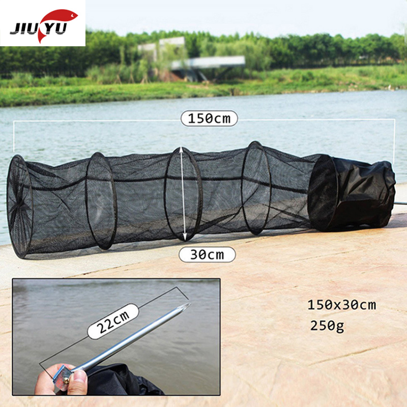 Fishing tackle gear net 1.5 m 5 layers cage foldable gate care fishing|Fishing Net| |  - title=
