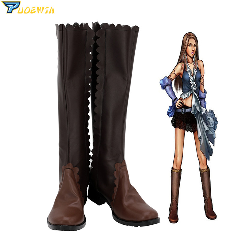 Final Fantasy XII cosplay Yuna Lenne Song Cosplay Shoes Boots Custom Made image