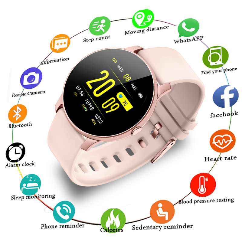 LIGE 2019 New Smart Watch Women Heart Rate Health Monitoring Pedometer Sport Fitness Smartwatch For Android IOS Couple Watch+Box