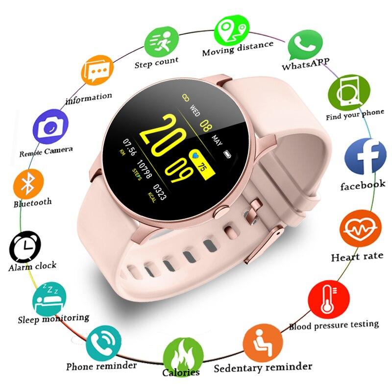 LIGE 2019 Novo Relógio Inteligente de Freqüência Cardíaca Das Mulheres Saúde Monitoramento Pedômetro Aptidão Esporte smartwatch Para Android IOS Relógio Casal + caixa