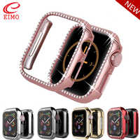 Bling case For Apple watch 4 band 44mm 40mm iwatch case 42mm 38 mm Diamond Screen Protector cover bumper watch Accessories 44