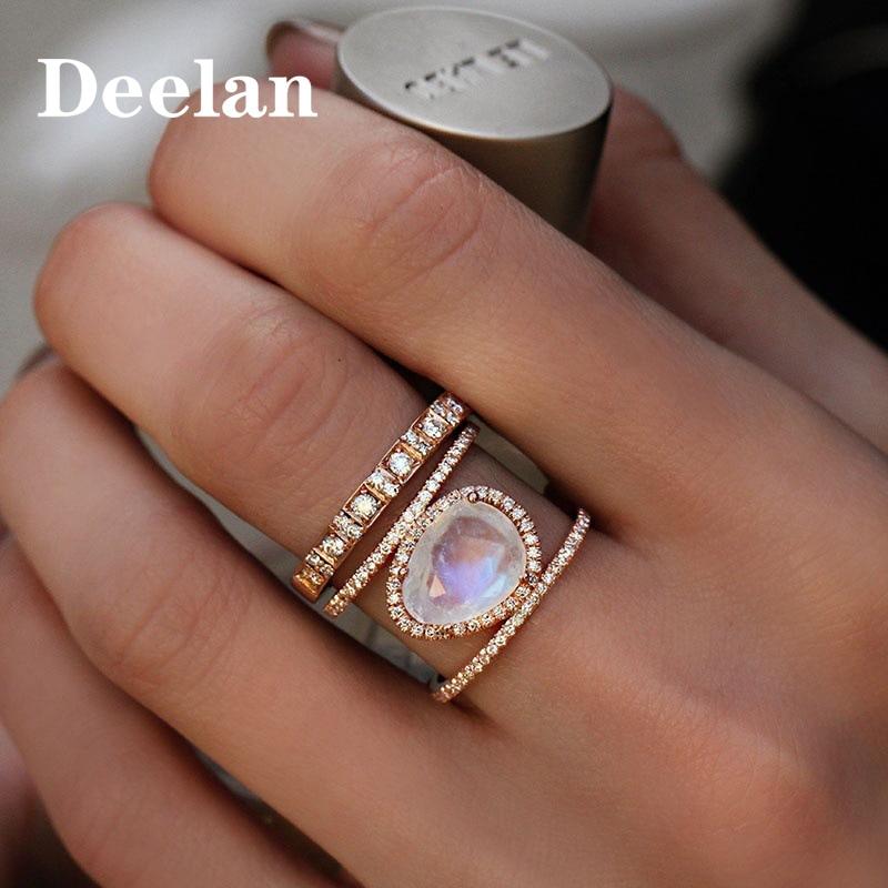DEELAN Europäischen Amerikanischen mode heiße Österreichischen farbe kristall frau ring zink-legierung ringe party hochzeit ring geschenke Drop verschiffen