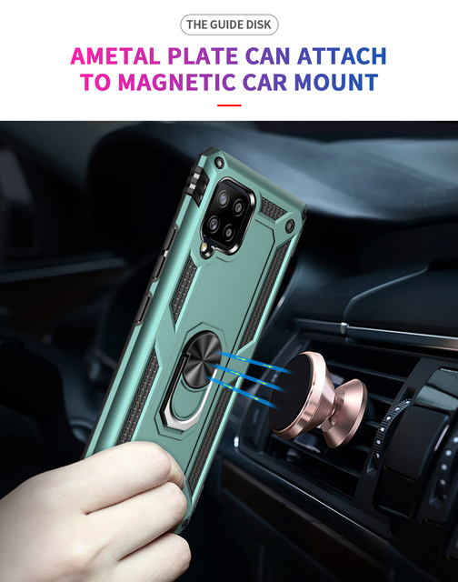 Shockproof Ring Stand Funda Cover for Samsung Galaxy A22 A32 A72 A52 A42 A12 5G S20 FE S20FE S21 Plus Ultra Case TPU Bumpe Coque 2