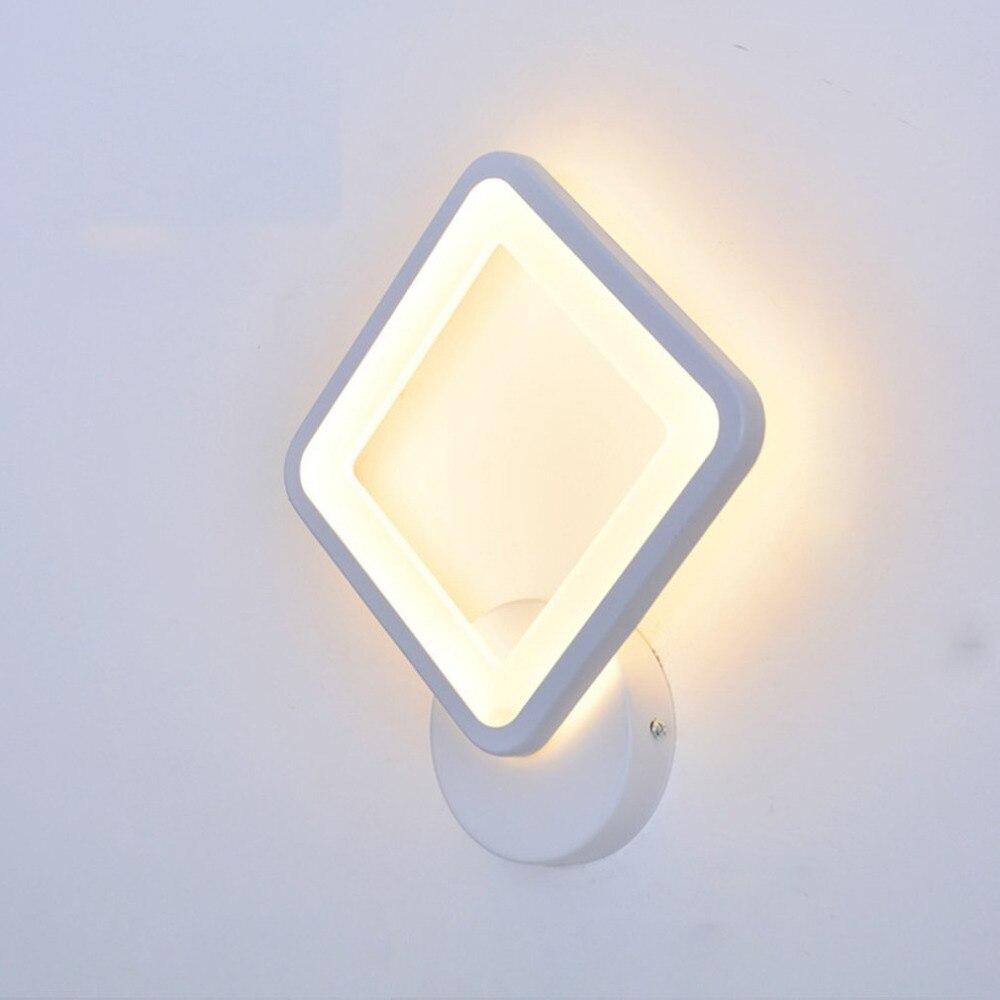 Chevet applique chambre bois massif tournant allée couloir couloir nordique salon peinture mur LED lampe de chevet