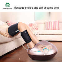 JinKaiRui Electric Health Care Antistress Muscle Release Therapy Rollers Shiatsu Gua Sha Heat Foot Massager Machine Device