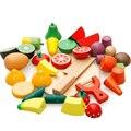 Kinder Küche Lebensmittel Täuschen Spielzeug Obst Fisch Gemüse Blöcke Kinder Schöne Holz Spielzeug Spielhaus Spielzeug Baby Geschenke