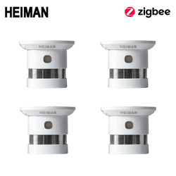 HEIMAN Zigbee Fire alarm Smoke detector 4pcs Smart Home system 2.4GHz High sensitivity Safety prevention Sensor Free Shipping