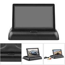 4.3 cal HD składany widok z kamery cofania samochodu Monitor kamera cofania zestaw