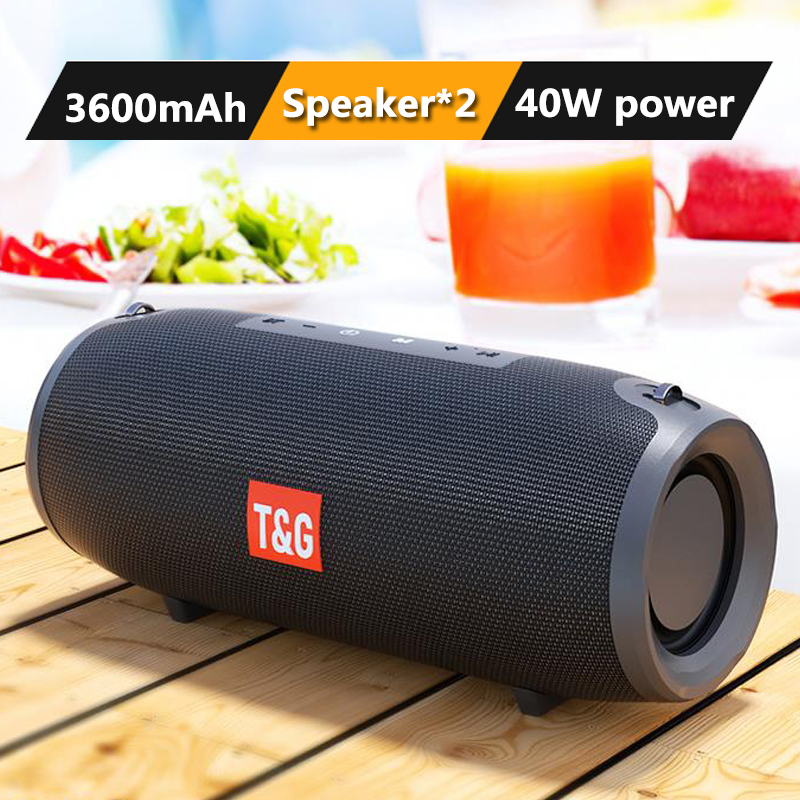 TG118 40W de alta potencia Altavoz Bluetooth portátil al aire libre Subwoofer de columna inalámbrico Centro de música radio 3D estéreo/FM/TF/AUX