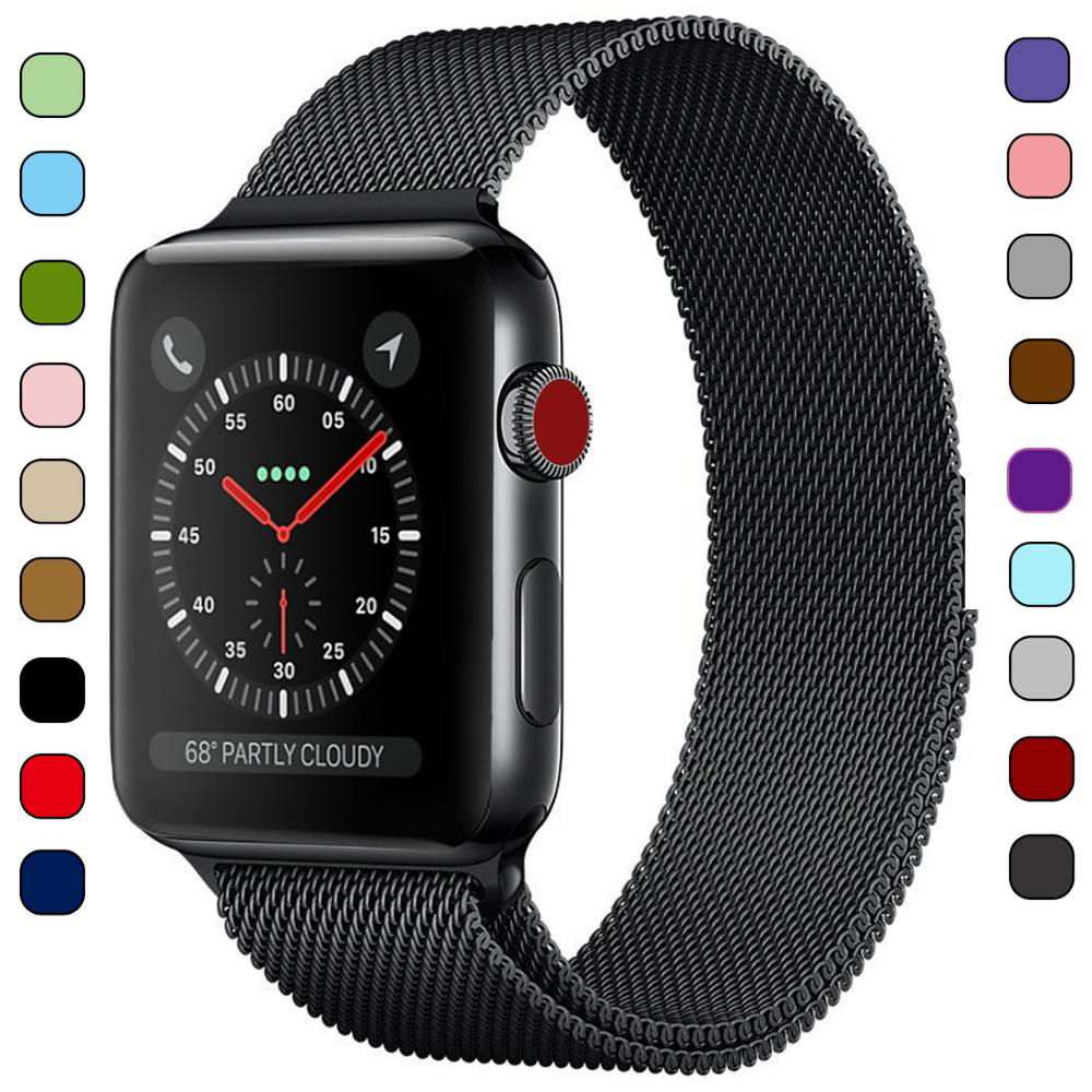 Bracelet Metal-Strap Stainless-Steel-Band Watch-Series Milanese-Loop 40mm Apple 44mm