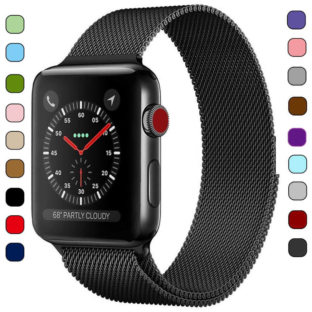Milanese Loop Bracelet Stainless Steel Band for Apple Watch Series 1 2 3 42mm 38mm Metal Strap for iwatch 4 5 40mm 44mm