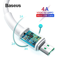 Baseus Cable USB 4A Micro USB Cable For Samsung Xiaomi Redmi Cable 20W Compatible 2A Fast Charging Cable For OPPO VIVO Android цена