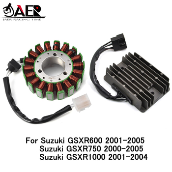 JAER Stator Coil and Regulator Rectifier for Suzuki GSXR 600 750 1000 GSXR600 2001-2005 GSXR750 2000-2005 GSXR1000 2001-2004 new motorcycle adjustable folding extendable brake clutch lever for suzuki gsxr 600 750 gsxr600 gsxr750 96 03 gsxr1000 01 2004